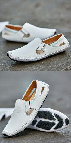 2017 New Arrival Big Size Verão Dos Homens Dirigindo Sapatos de Couro Genuíno boa Qualidade Macia Homens Loafers Confortável Plus Size 45 46 47