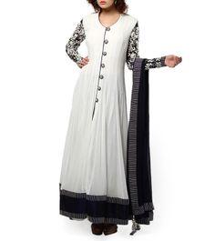 Monochrome Anarkali Suit