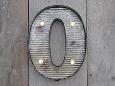 Fairground Metal Letter Lights ,  - Olive and Sage, Olive and Sage  - 1