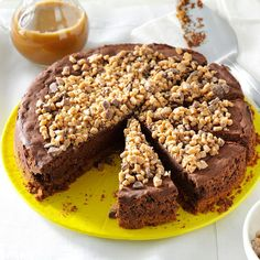 Toffee Truffle Cheesecake Recipe -I combined two of my favorite cheesecake recipes and added the delicious homemade caramel sauce for a cheesecake that's now my favorite! —Hannah Halstead, Blair, Nebraska