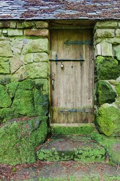 "Aging door in moss covered stone cabin deep in forest. ""Portland's Secret Garden"", Leach Garden was established by John and Lilla Leach in the The Garden continues as a public place of respite and native northwest botanical display. Wooden Door Knobs, Wooden Doors, Portal, Portland City, Portland Oregon, Oregon Usa, Stone Cabin, Moss Garden, Oregon Travel"