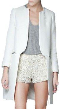 Redingote trench Zara blanche NEUF via Chloe Handbag Addict : Le vide dressing. Click on the image to see more!