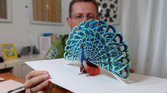Peter Dahmen vytváří 3D objekty skládané ručně z papíru