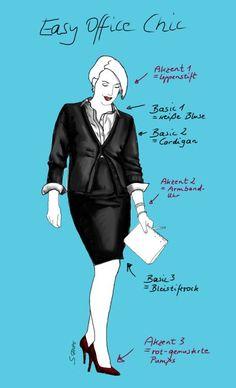 Ein Büro-Outfit aus Business-Basics kann ganz einfach sein: Hier finden Sie eine Fashion-Formel, wie Sie zeitlose Mode-Klassiker richtig fürs Büro kombinieren.