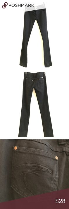 Black Low rise Frankie b jeans Super low rise black Frankie b jeans. Boot cut but on the skinny side. Size 4 but could fit smaller! Frankie B. Jeans Boot Cut