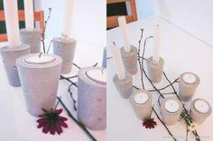 DIY Kerzenhalter aus Zement selber machen