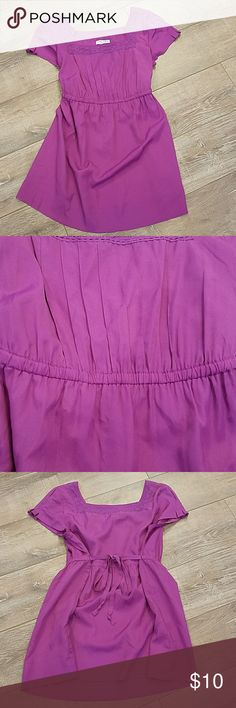 Liz Lange Maternity Purple Silky Blouse Size S Liz Lange Maternity Purple Blouse, Size S. Ties in the back. Worn a couple times for my pregnancy. I wrote my initials on the back side of the tag. In very good condition and super cute! Liz Lange for Target Tops Blouses