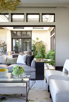 Love the courtyard in the middle.....makes the house..Ashley Campbell Interior Design, Denver.