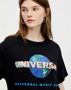 Pull N Bear, T Shirt, Clothes, Women, Products, Fashion, Elegant, Black, Supreme T Shirt