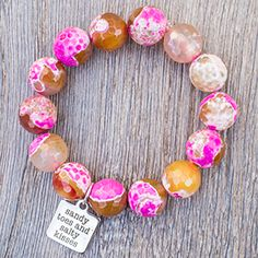 Faceted Aruba Agate with Sandy Toes Medal