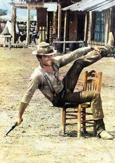 "Terence Hill en ""Mi Nombre es Ninguno"" (Il Mio Nome è Nessuno), 1973 Helen Hunt, Errol Flynn, Mel Gibson, Harrison Ford, Marlon Brando, Chloe Grace Moretz, Blade Runner, Terence Hill, Cowboy Hats"