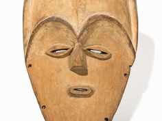 Important Vuvi Mask, Gabon Wood Vuvi peoples, Gabon Large facial plane with strong high forehea The Saleroom, Art Auction, Tribal Art, Masks, Wood, Auction, Woodwind Instrument, Timber Wood, Trees