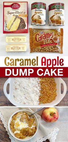 Desserts Menu, Dessert Cake Recipes, Apple Desserts, Holiday Desserts, Easy Desserts, Delicious Desserts, Yummy Food, Yummy Recipes, Caramel Apples