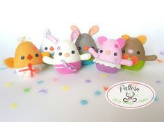 Egg Plushies PDF Pattern-Easter eggs sewing pattern-Egg
