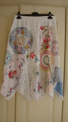 Stunning Vintage Antique Upcycled Tablecloth by PrettyUnusuall