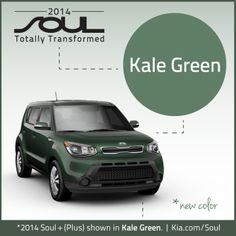 2014 Kia Soul. New Color. Kale Green. #KiaSoul #2014KiaSoul #Kia #Soul #kale #green