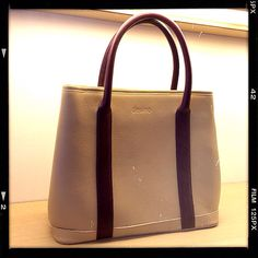Day tote in ivory nature floater leather