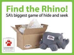 Cape Union Mart 'Find the Rhino' Competition together with Endangered Wildlife Trust! Conservation, Cape, Competition, Trust, Wildlife, Creatures, Mantle, Cabo, Coats