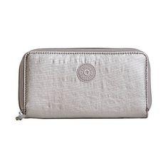 Kipling Women's Clarissa Metallic Continental Zip Wallet