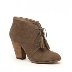 HOW AM I GOING TO LIVE IN CALI THIS FALL WITHOUT A FALL??  Women's Army Suede 3 1/4 Inch Suede Tassel Bootie | Tallie by Sole Society