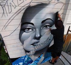 Work in progress by Tristan Eaton in Hawaii for @powwowworldwide #streetart #streetartnews @tristaneaton by streetartnews