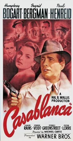casablanca movie What Old Hollywood Film Do You Belong In? Iconic Movie Posters, Cinema Posters, Movie Poster Art, Iconic Movies, Old Movies, Vintage Movies, Vintage Posters, Old Film Posters, Original Movie Posters