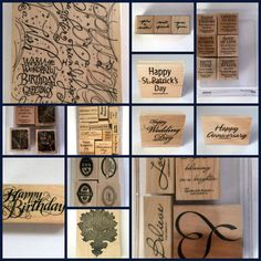 Lot 33 Stampin Up Rubber Stamps Denami PSX by MoomettesCrochet