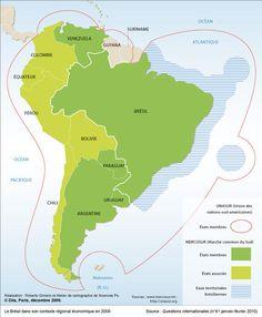 Le Brésil dans son contexte régional économique en 2009