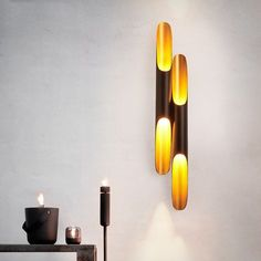 Nordic Bamboo Shaped Wall Light Luxury Industrial Wall Lamp Living Room Background Wall Bedroom Corridor Simple Art Decor Home Led Wall Lights, Room Lights, Candle Sconces, Wall Sconces, Wall Lamps, Luminaire Led, Living Room Background, Simple Art, Art Decor
