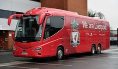 """""""Liverpool, Man City & Arsenal have all got new team coaches this week! Liverpool History, Fc Liverpool, Liverpool Football Club, Football Team, Arsenal, Luxury Bus, Team Coaching, You'll Never Walk Alone, Vans"""