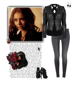 Katherine Pierce by greerflower on Polyvore featuring Witchery, A.L.C., 7 For All Mankind, Alexander McQueen and Cathy Waterman