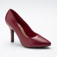 "CinderellaOfBoston.com: Jade - Classic pump on a 3¼"" heel in wine."