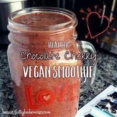 choco cherry smoothie