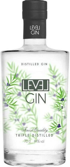 Level Gin Premium by Teichenné Liquors – The Gincubator Store Vodka, Tequila, Liquor Drinks, Alcoholic Drinks, Glass Packaging, Packaging Design, Flower Packaging, Label Design, Whisky