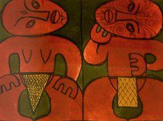 Robyn Kahukiwa - Haka II 52/400 Maori Art, Artworks, Portraits, How To Make, Painting, Design, Head Shots, Painting Art