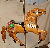 """Illions Stained Wood Carousel Horse, 41""""by Carouselworkshop.com  $1595."""