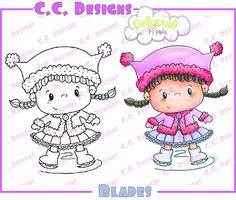 """C.C. Designs Pollycraft """"""""Blades"""""""" Rubber Stamp"""