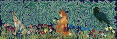 From Beth Russell Needlepoint - William Morris the Forest:  Combined Hare, Fox and Raven needlepoint kit.  Pinned by www.mygrowingtraditions.com