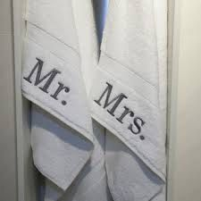 Mr. & Mrs. Towels/ His and Her Towels/ Hand towel Set/ Monogrammed Towels by GMonogram on Etsy https://www.etsy.com/listing/204306753/mr-mrs-towels-his-and-her-towels-hand