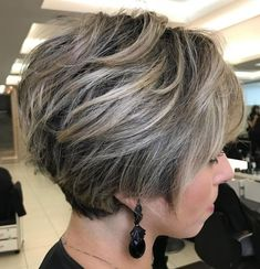 50 Long Pixie Cuts to Make You Stand Out in 2020 - Hair Adviser - - Bored with your current cropped hairstyle and looking for something new? Consider one of these 50 trendy long pixie cuts! Cute Short Haircuts, Cute Hairstyles For Short Hair, Bob Hairstyles, Layered Hairstyles, Pixie Haircuts, Medium Hairstyles, Stacked Bob Haircuts, Amazing Hairstyles, Trendy Hairstyles