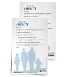 Download a 'Prayer for Parents' and use it in your home or parish as a way to honor and support all parents. #Catholic #Catholics #Parenting #Parents #Prayer