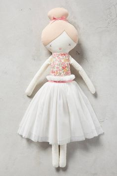 Anthropologie Ballerina Plush Toy