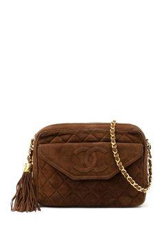 Vintage Chanel Suede Matelasse Chain Shoulder Bag with Tassel by LXR on @HauteLook.