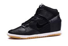 Nike Dunk Sky High Wedge Women Shoes Black