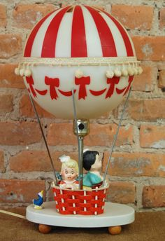 Vintage Hot Air Balloon Lamp with Night Light by maryandmarge, $45.00