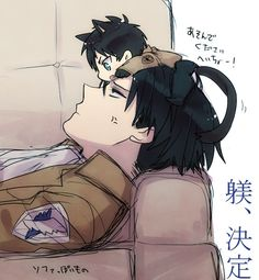 Levi x Eren, this is sooo aboslutely adorable ok. @O.B. Wellness Jeung