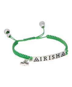 Look what I found on #zulily! Green & Silvertone Irish Friendship Adjustable Bracelet #zulilyfinds