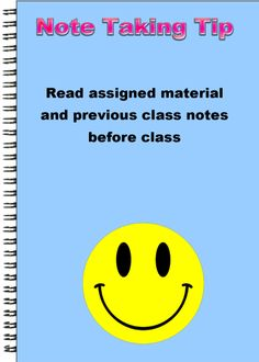 Note Taking Tip: Read assigned material and previous class notes before class Study Habits, Study Tips, High School Organization, Note Taking Tips, Chemistry Notes, Class Notes, Test Preparation, Learn Faster, Travel Humor