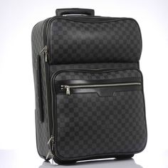 c67030c107d Authentic Louis Vuitton Damier Graphite Pegase 55 Business Rolling Suitcase  #LouisVuitton #Suitcase Authentic Louis