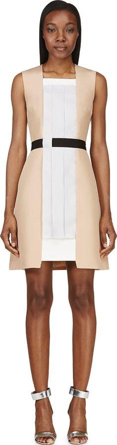 Roksanda Ilincic - Blush Pleated Panel Alvey Dress   SSENSE